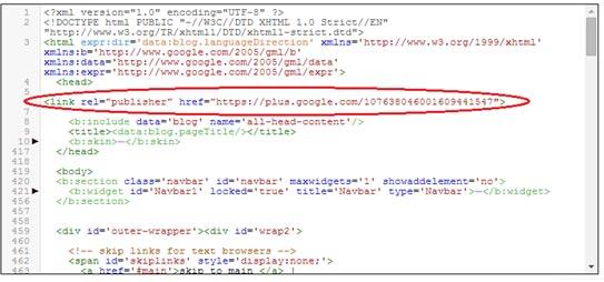 Google Publisher Code