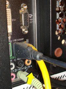 "L / R into Computer's ""Line In"" Port"
